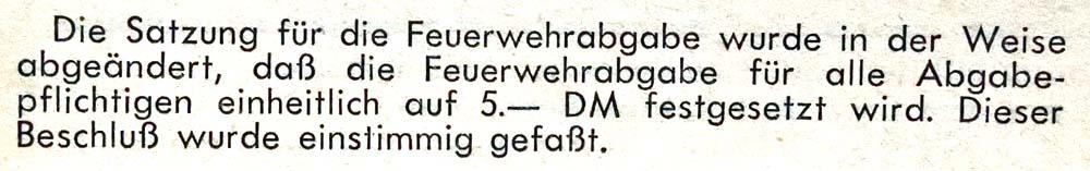 30.4.1960 Feuerwehrabgabe 5,- DM