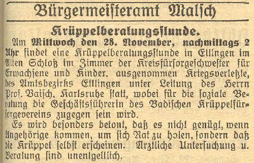 Gemeinde-Anzeiger vom 24 November 1934