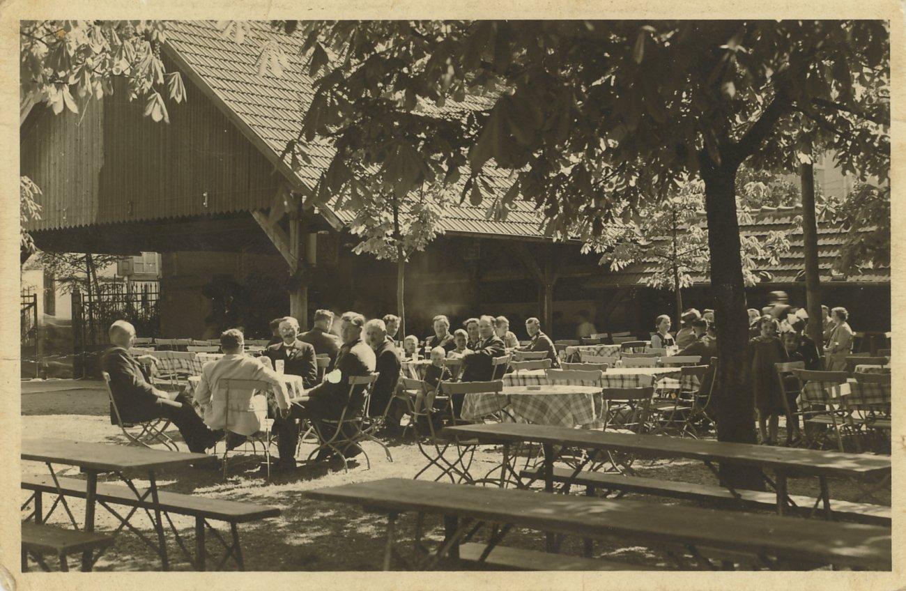 Biergarten im Jahre 1947
