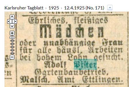 Karlsruher Tagblatt 1925