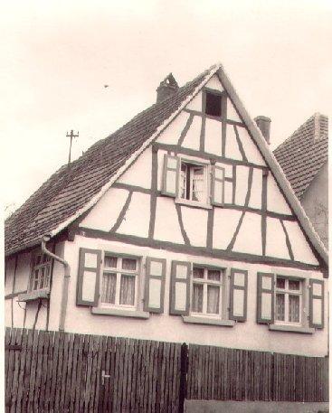 Haus Bechler vor dem Umbau 1962, Rosenstraße 11, Foto: Anita Bechler