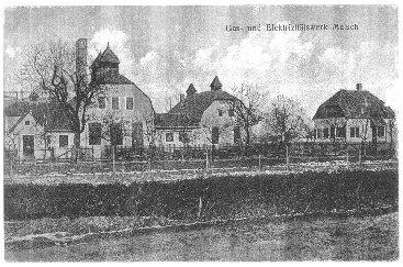 Gaswerke Malsch im Jahre 1911