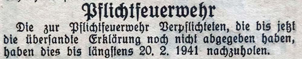 20.2.1941 Pflichtfeuerwehr, Kriegsfall
