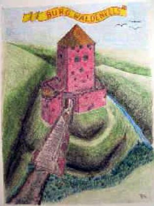 So könnte Burg Waldenfels von Süden ausgesehen haben