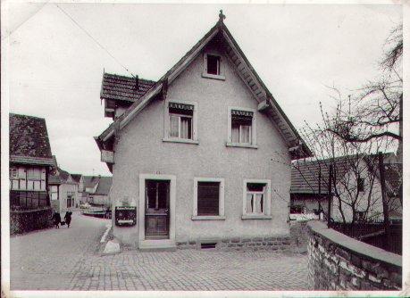 Bäckerei Balzer im Jahre 1961, Foto: Daniel Balzer