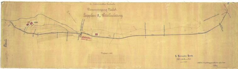 Plan Wasserleitung von 1902