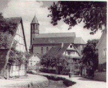 Waldprechtsbach mit Blick auf St. Cyriak