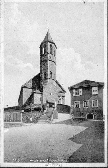 Kirchenaufgang mit Gewerbeschule im Jahre 1942, Foto Beate Kunz