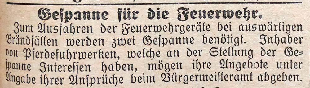 26.8.1927 Pferdegespann für den Einsatz