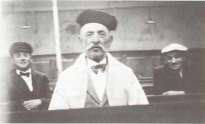 Kantor Julius Dreyfuss 1938 in der Malscher Synagoge