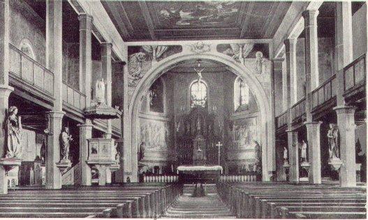 Kirche St. Cyriakus vor dem Umbau 1972