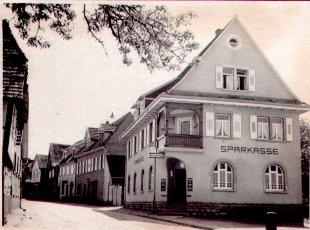 Gasthaus Rössel (später Sparkasse und Bekleidungs- und Kurzwarengeschäft)