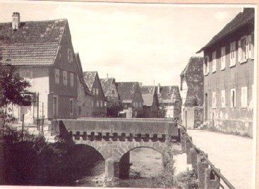 Ochsenbrücke über den Dorfbach