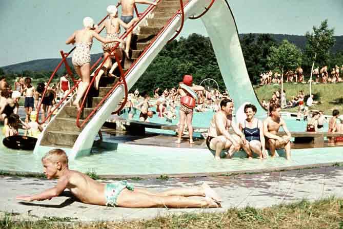Schwimmbad Malsch in den 60iger Jahren
