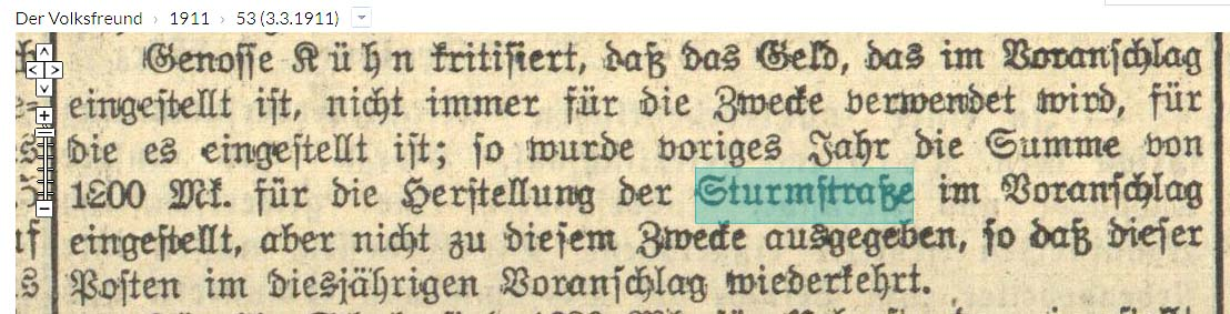 1911 Baumaßnahmen
