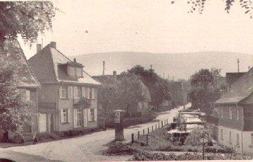 Blick vom Kirchhof ins Oberdorf