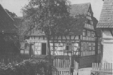 Haus von Jakob Kistner, Weidgass (Weitestraße), erbaut 1748