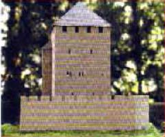 Modell einer Turmburg aus dem 11. Jahrhundert