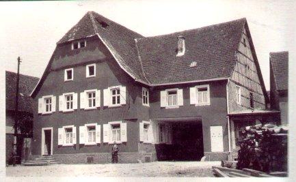 """Gasthaus """"Zum Lamm"""" im Jahre 1926"""