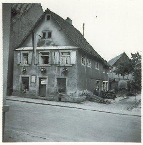 Schuhhaus Wickenhäuser vor 1957, Hauptstraße
