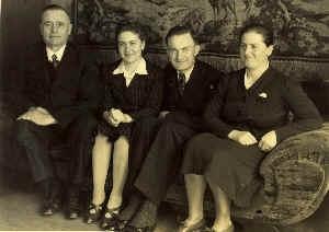 Ferdinand Werner, Tochter Trudel, Schwiegersohn Johannes Kunz und Tochter Ellies