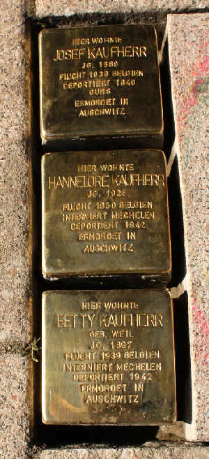 Kurzbiografien der Personen, für die ein Stolperstein am 11.10.2010 durch den Kölner Künstler, Gunter Demnig verlegt wurde.