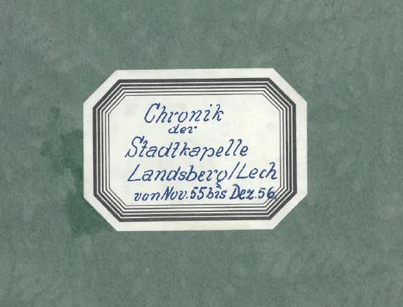 Chronik zum 1. Bezirksmusikfest im Jahr 1956