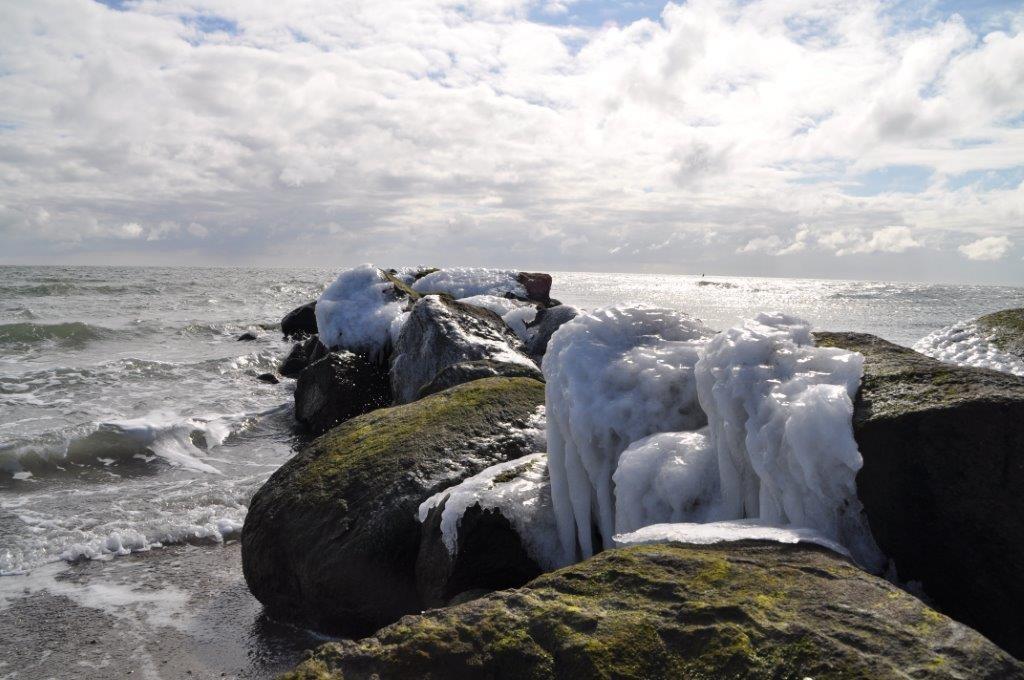 Eisgebilde am Südstrand von Fehmarn