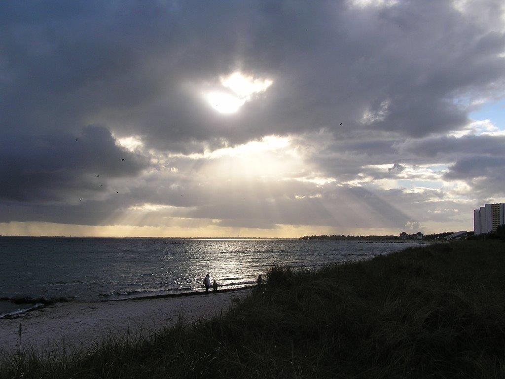 Wetter + Lichtspiele am Südstrand