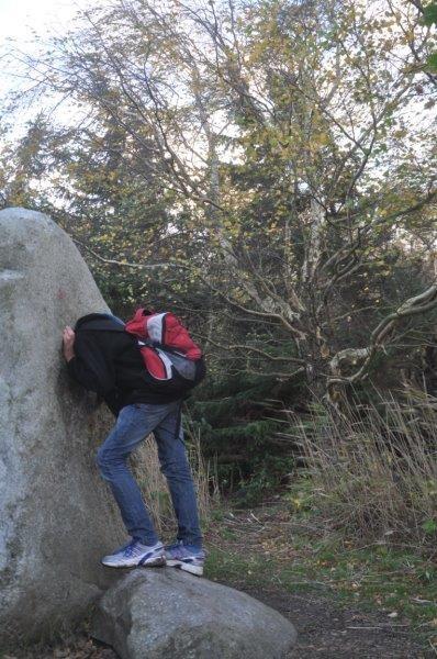 Kopf im Stein