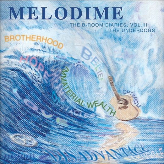 "This illustration was done for an album cover for the band ""Melodime."" It represents the many things that they stand for. It was illustrated on Mi-Tientes paper with Prismacolor pencils. The text was manipulated in Photoshop. Created 11/15"