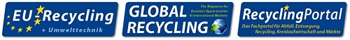 Logos EU Recycling, Global Recycling, Recycling Portal