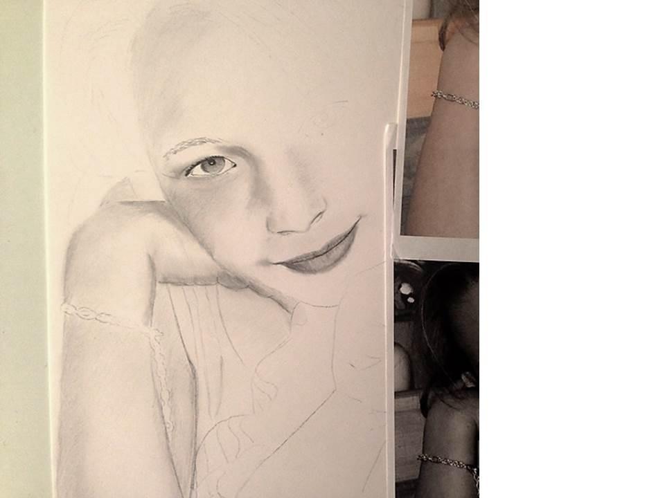 Portraitzeichnung Tutorial - nach 2 Stunden