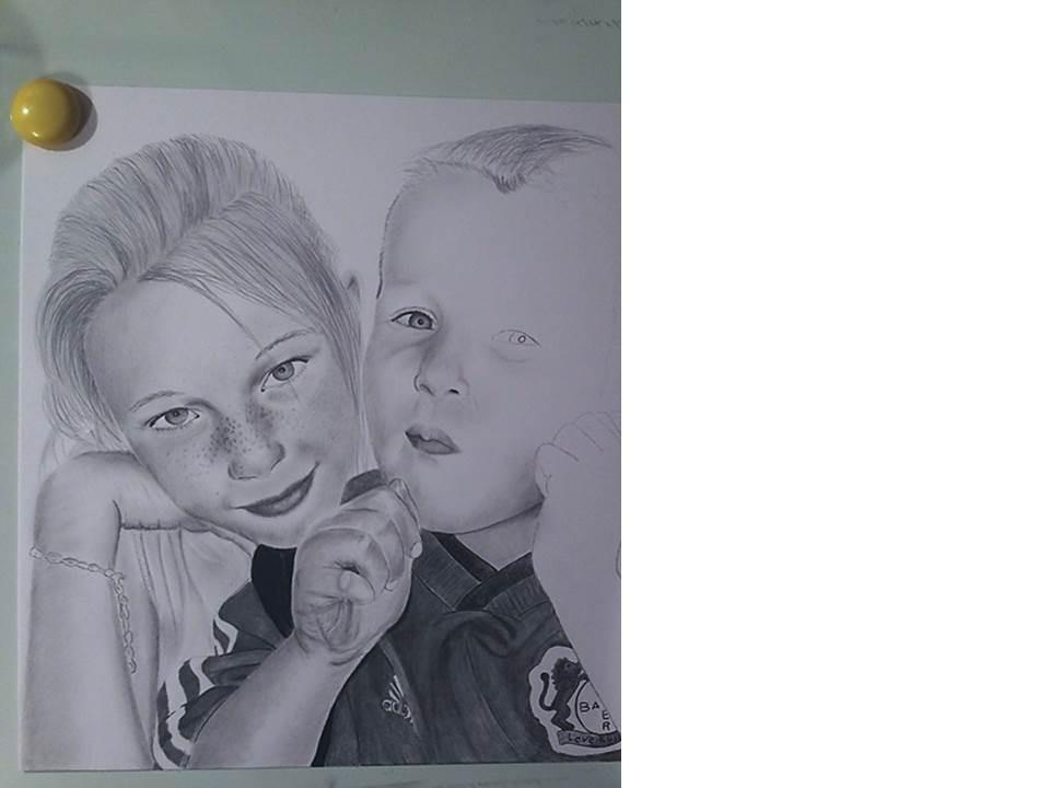 Portraitzeichnung Tutorial - nach 7 Stunden