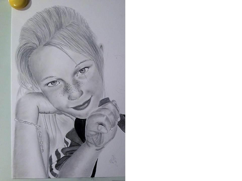 Portraitzeichnung Tutorial - nach 4 Stunden