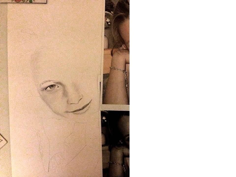 Portraitzeichnung Tutorial - nach 1 Stunde