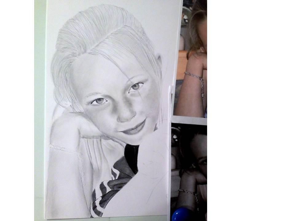 Portraitzeichnung Tutorial - nach 3 Stunden