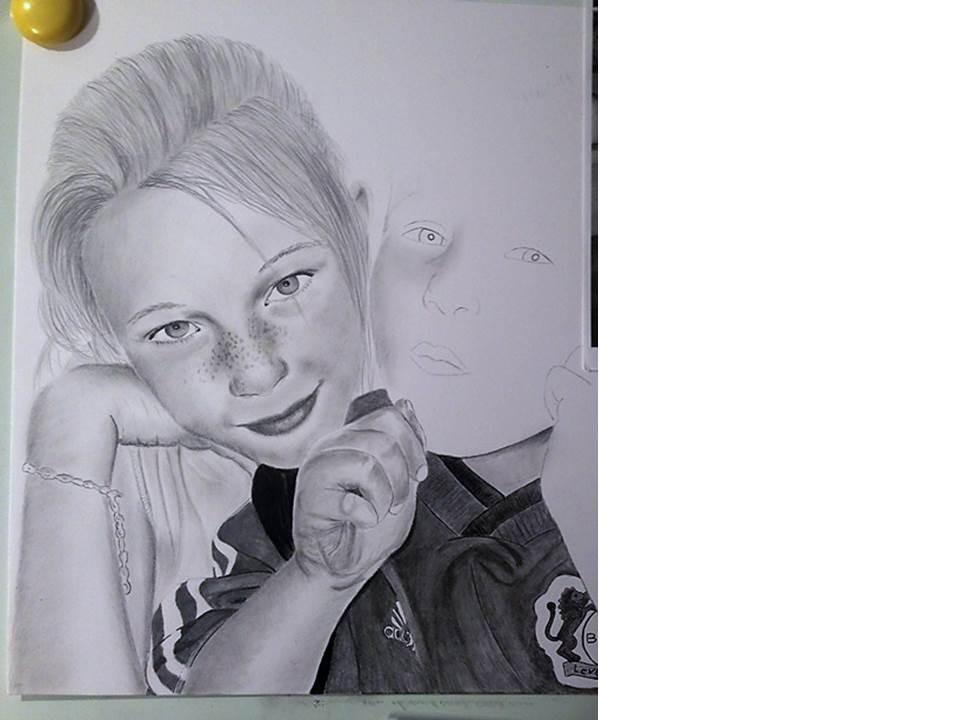 Portraitzeichnnung Tutorial - nach 6 Stunden