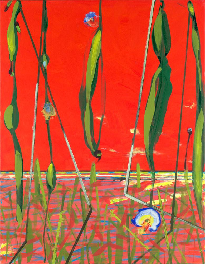 Tout feu tout flamme - 2013 - Acrylique sur toile / 146x114 cm