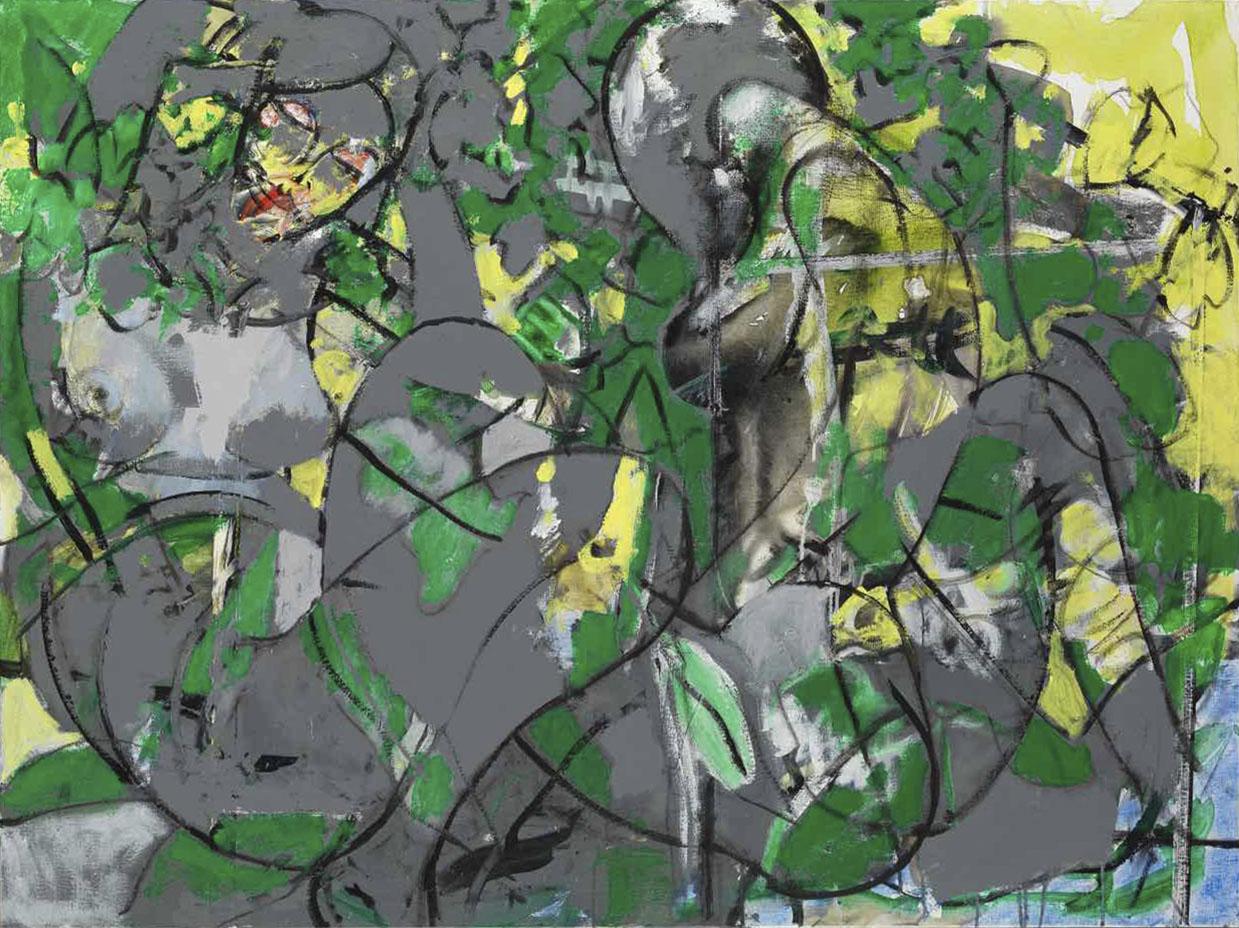 Fondiane et Syloé - Acryl sur toile - 97x130 - 2016