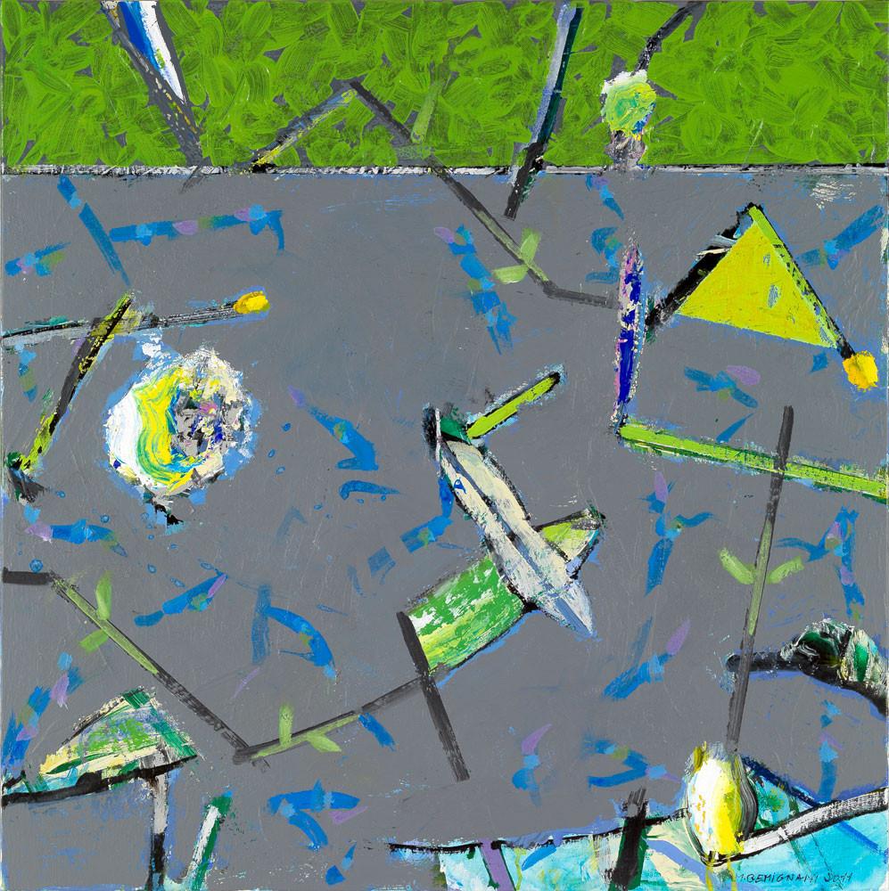 Sémafleurs - 2012 - Acrylique sur toile / 80x80 cm