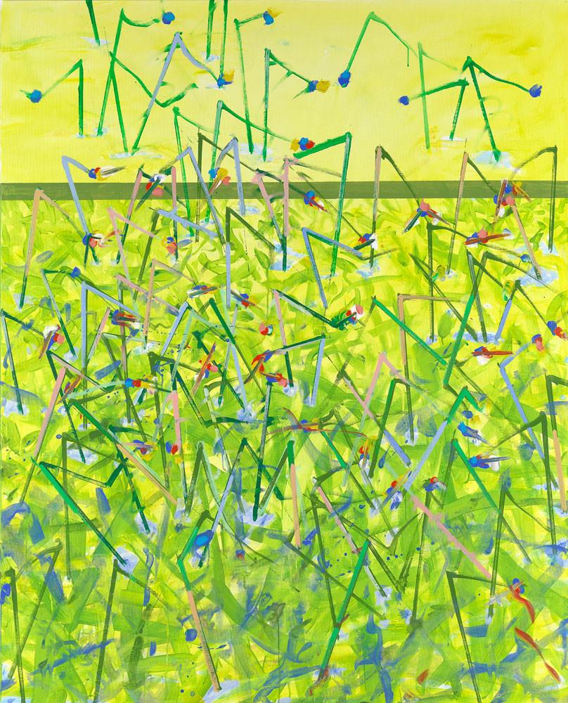 La guerre des boutons - 2013 - Acrylique sur toile / 180x160 cm
