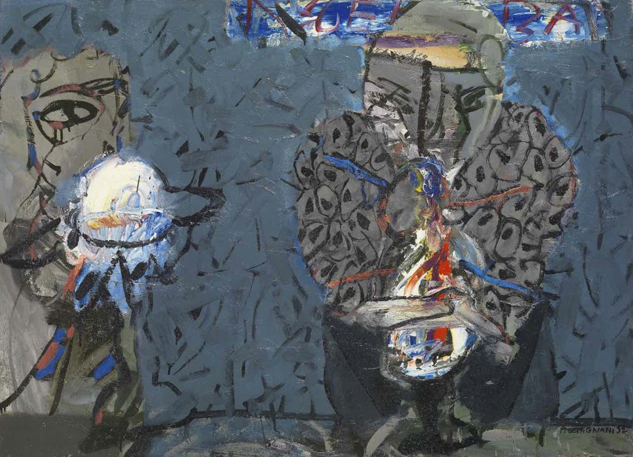 Les mangeuses de desert I - Huile sur toile - 73x100 - 1991