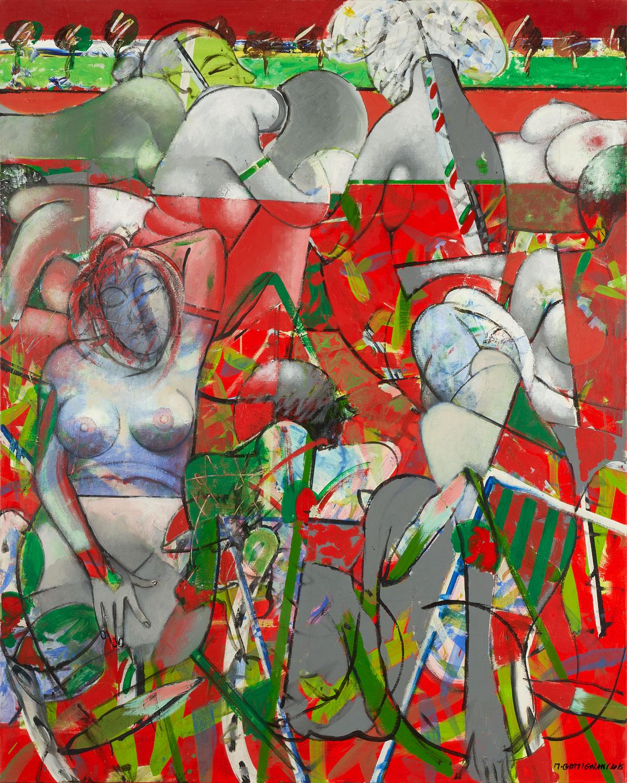 Harem - Ketchup - 2018 - Acrylique sur toile 160x130