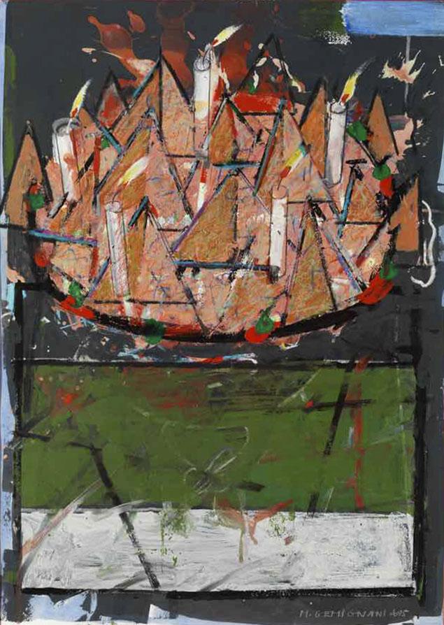 Les cinq ans d'Adeline B. - Acryl sur Arche - 69x49 - 2015