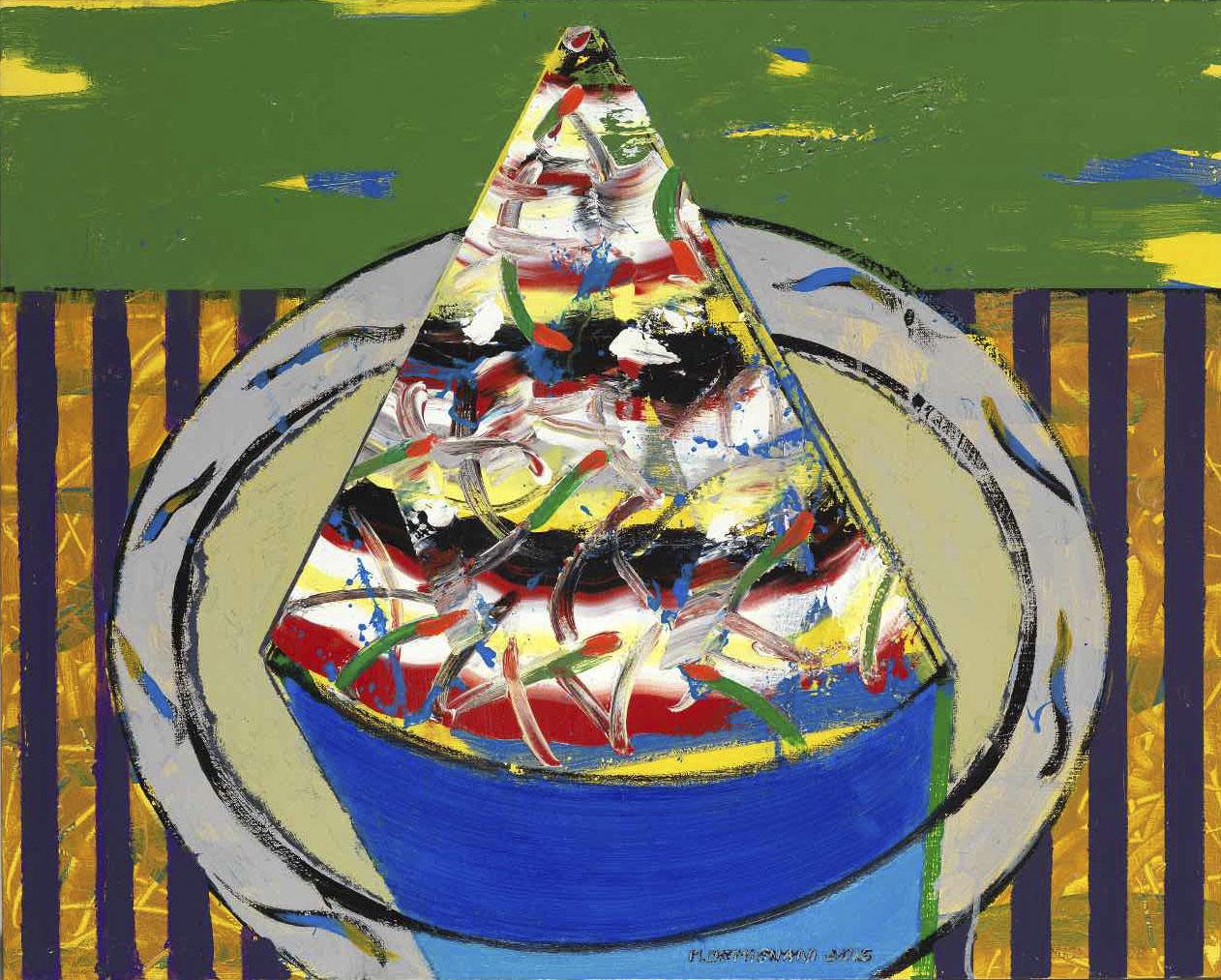 Gourmandise d'Azrou - Acryl sur toile - 65x82 - 2015