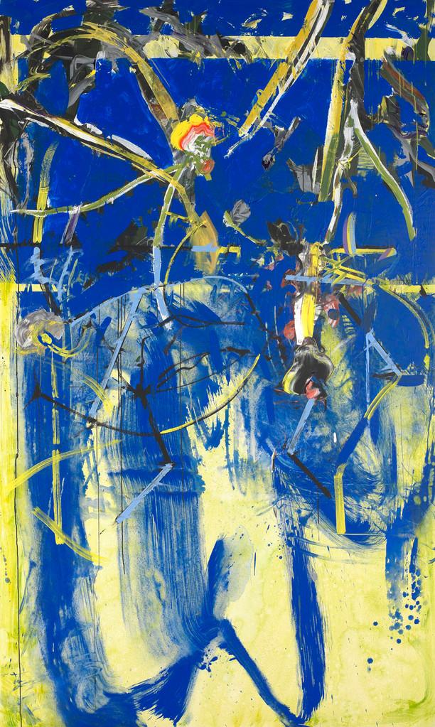 On dirait les fleurs de marais - Acrylique sur toile 250x150 cm