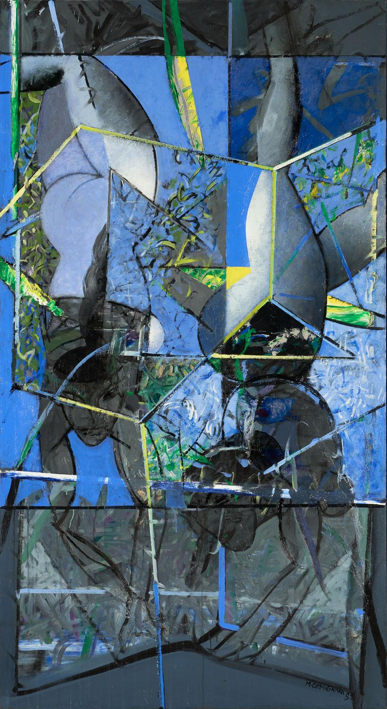 La danse d'Archimède - 2018 - Acrylique sur toile 195x100