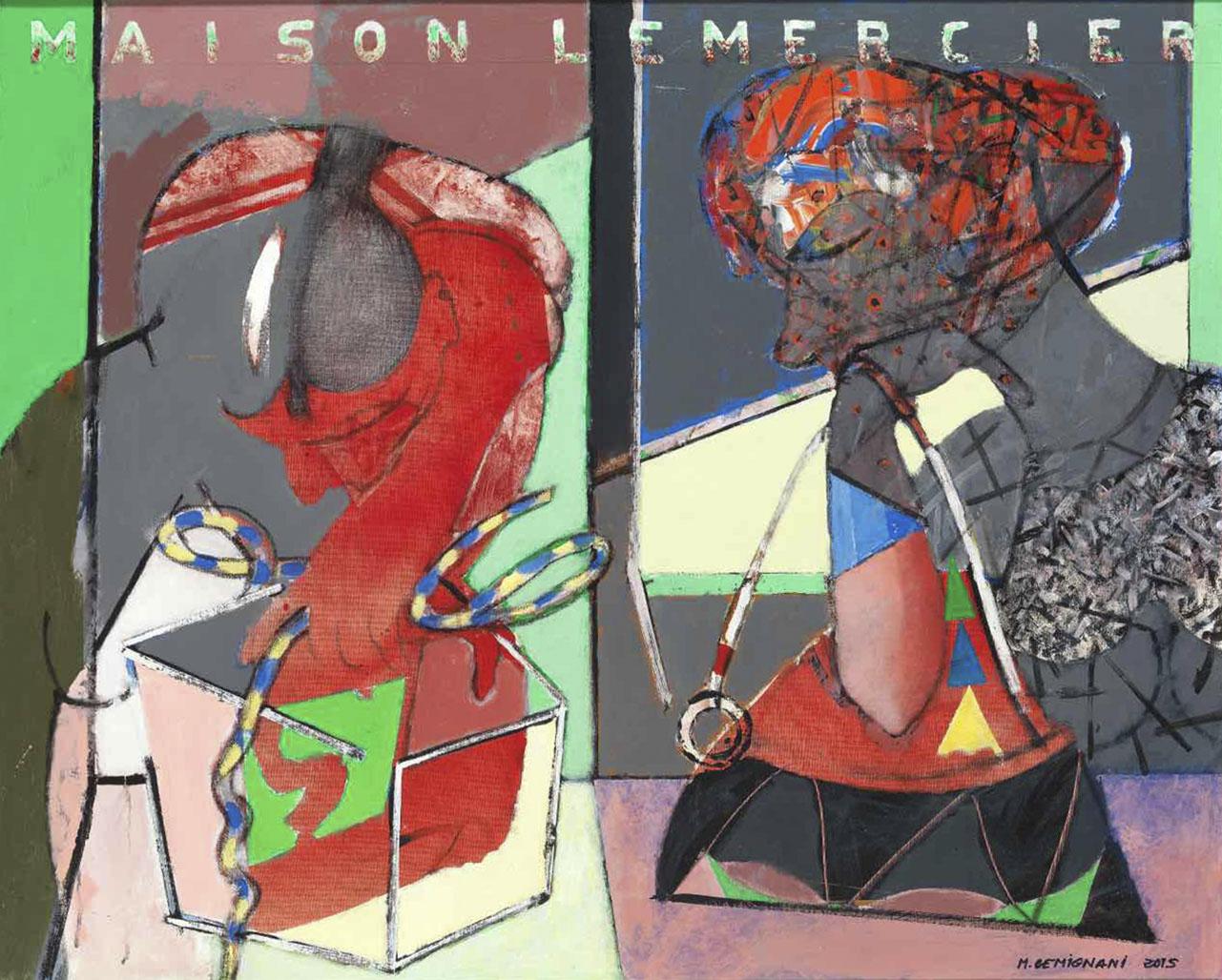 Maison Lemercier - Acryl sur toile - 81x100 - 2015