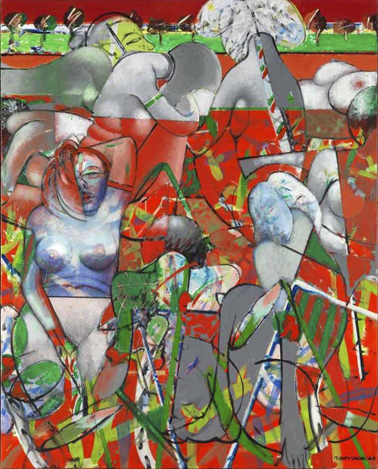 La mare aux diablotines - Acryl sur toile - 162x130 - 2016